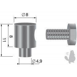 Serre-câble, pour câbles jusque Ø: 2,5mm