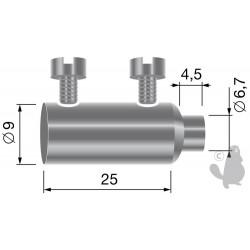 Serre-câble double, pour câbles jusque Ø: 3mm
