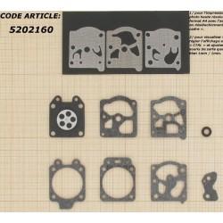 Kit Membranes pour WA / WT / D20 Walbro