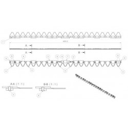 Lame AEBI 1m60 21 sections