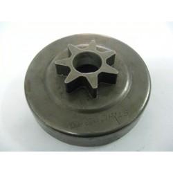 Cloche Pignon de chaine Pas 3/8 Intérieur 75mm 7 dents