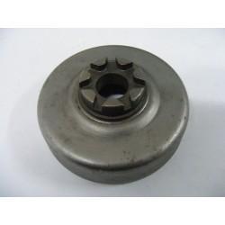 Cloche Pignon de chaine 7 dents / int 76mm / Axe 16mm